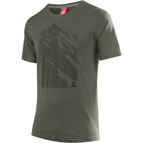 Löffler Transtex Single CF T-shirt à motif Homme, olive